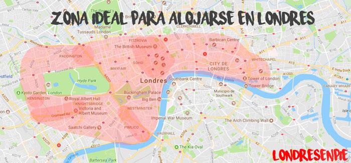 Zonas ideales para alojarse y dormir en Londres